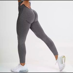 Pants - Gray booty contour high waisted seamless leggings